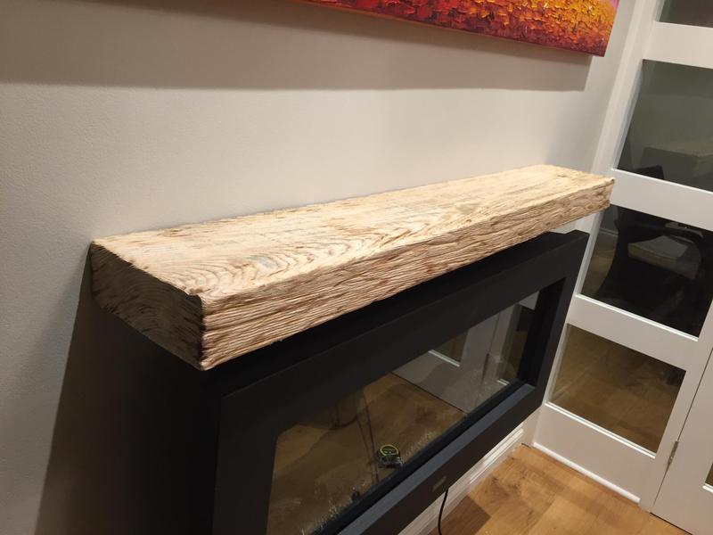 Image 17 - Hand made fireplace shelf