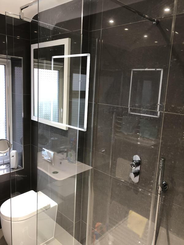 Image 9 - LED mirror added to the luxury walk in shower room in Welwyn Garden City for some extra detail.
