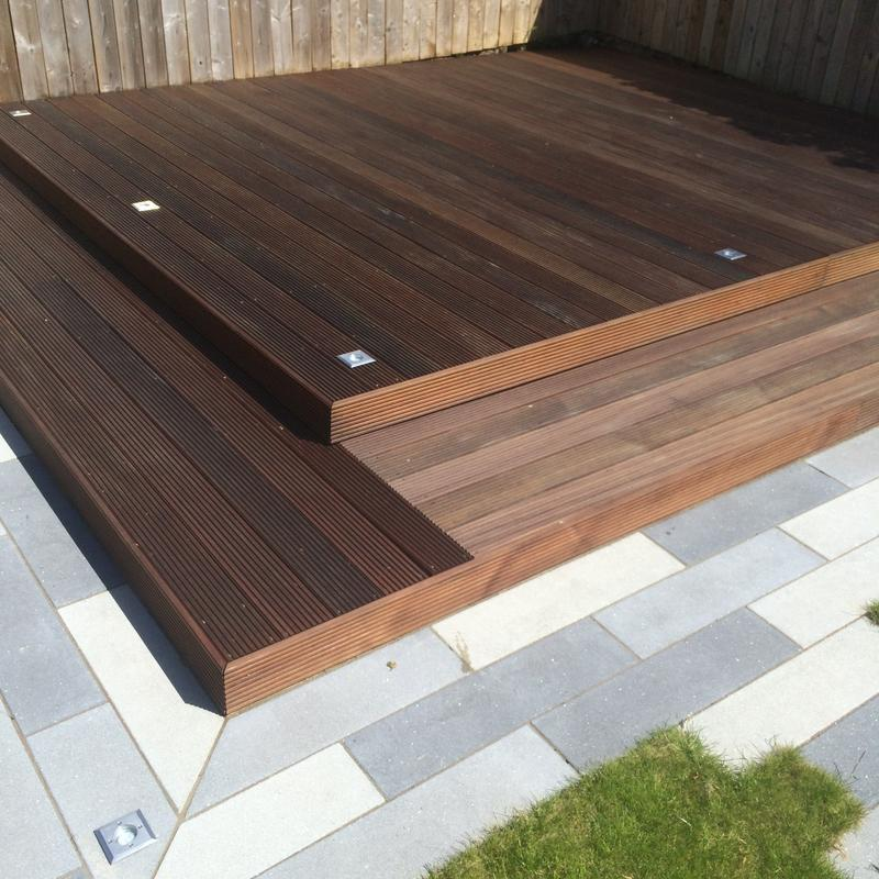 Image 6 - Hardwood decking with Led spotlights