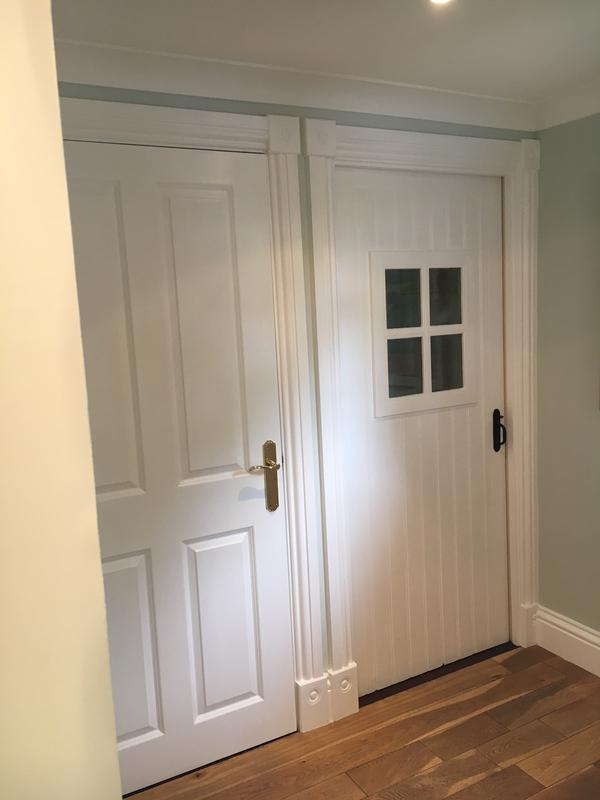 Image 5 - Woodwork painted with a Dulux water-based undercoat and a Dulux water-based satinwood for the finish. Farrow & Ball powder green emulsion (Estate) on the walls. Ceiling painted with a Dulux 'magic white.'