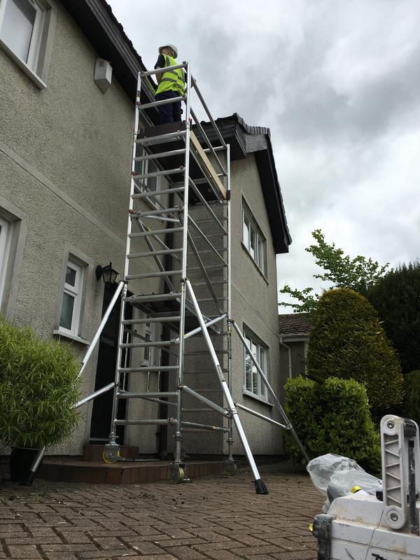 Image 21 - Some roof maintenance being carried out in Airdrie