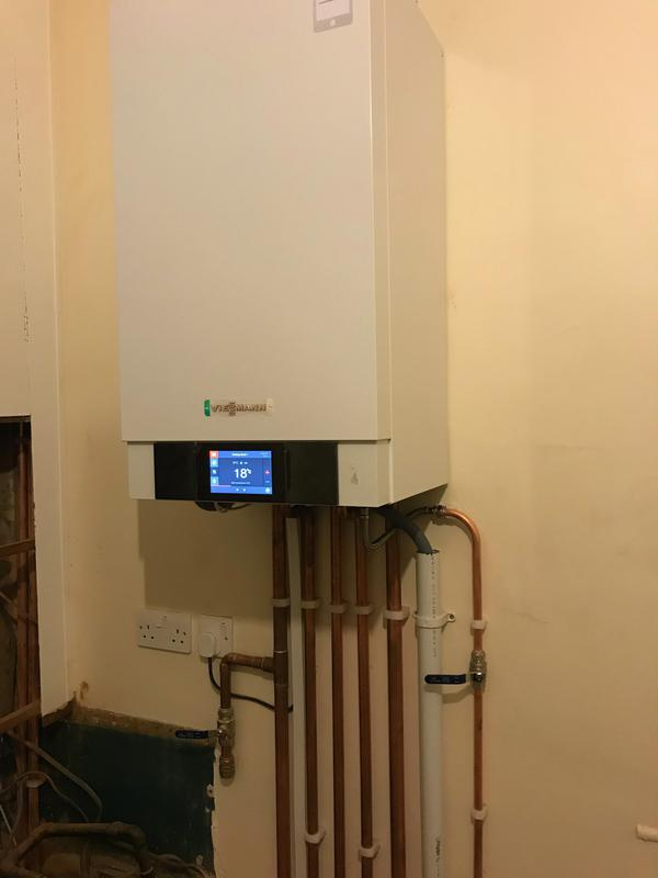 Image 14 - New Viessmann 200 w , with the new unvented cylinder and mains boost