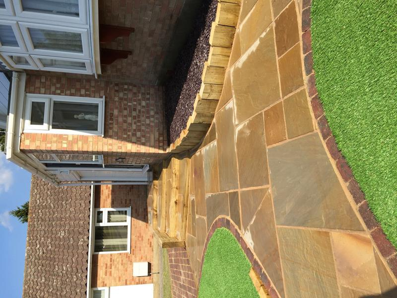 Image 28 - Front Path and Artificial Lawn
