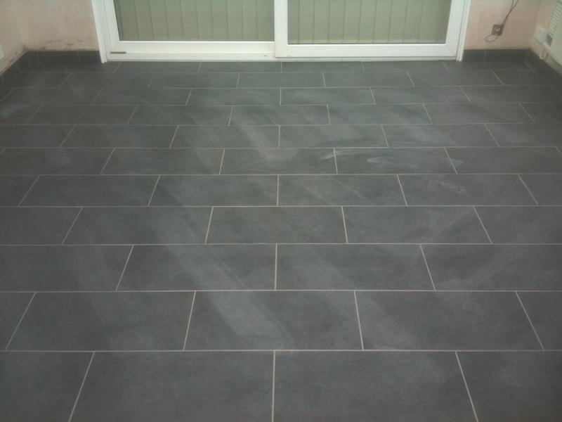 Image 66 - 60cm x 30cm Rectified Porcelain Brickjoint with Underfloor Heating