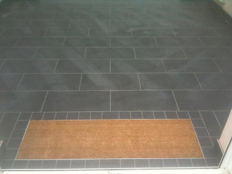 Image 67 - 60cm x 30cm Rectified Porcelain Brickjoint with Underfloor Heating &Matwell