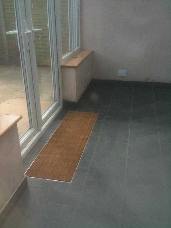 Image 68 - 60cm x 30cm Rectified Porcelain Brickjoint with Underfloor Heating &Matwell
