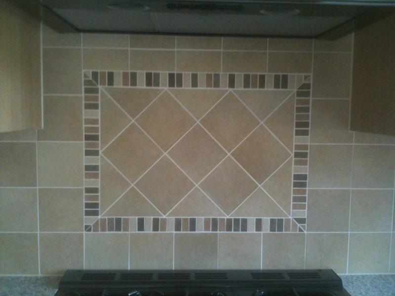 Image 69 - Kitchen wall tiles with Diagonal panel