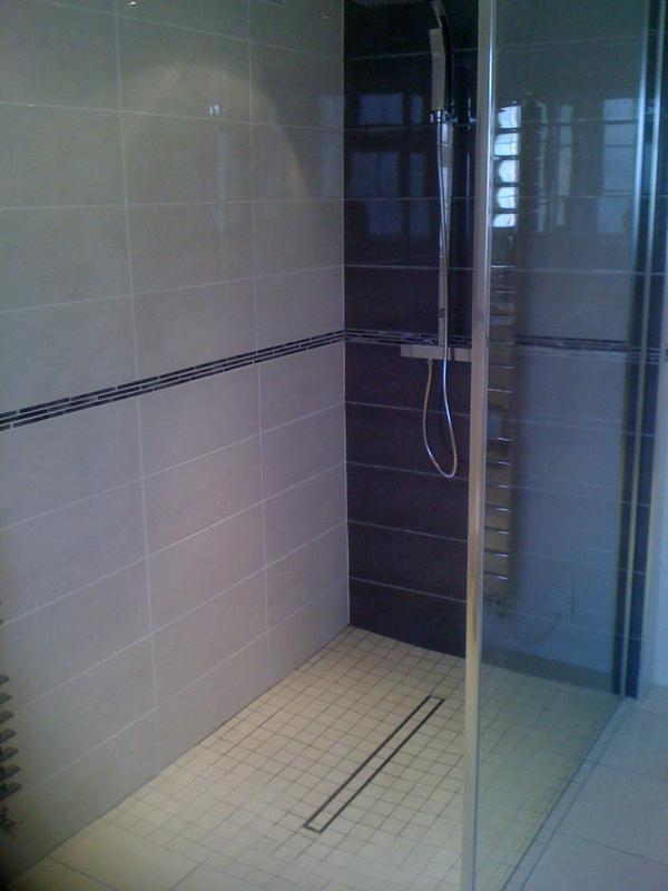 Image 163 - Wet room installation in Ilford. IG13QT