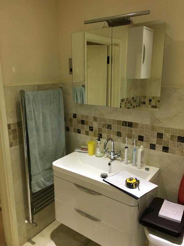 Image 158 - Before - Bathroom to shower room renovation ASHFORD