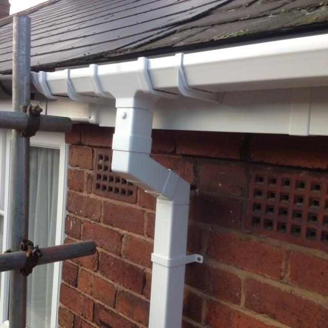 Image 8 - White square high gloss guttering