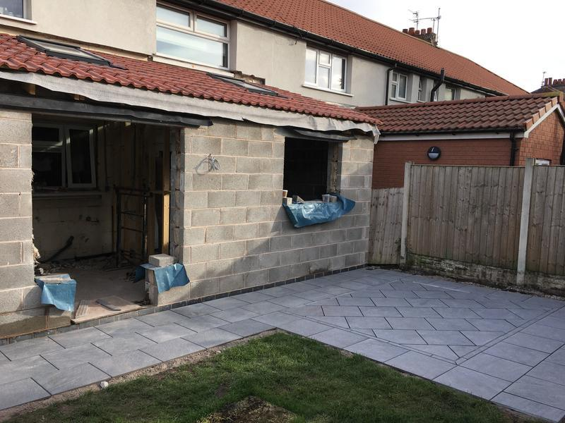 Image 7 - Kitchen extension and patio installation