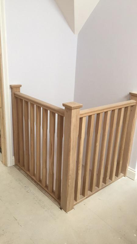 Image 6 - Solid Oak handrail/spindles/newel post
