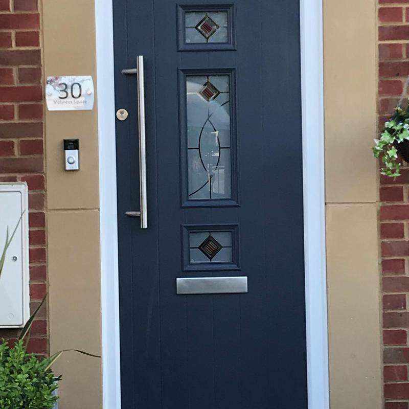 Image 14 - Composite door, Anthracite, mid-bar handles, Hampton Vale, Peterborough