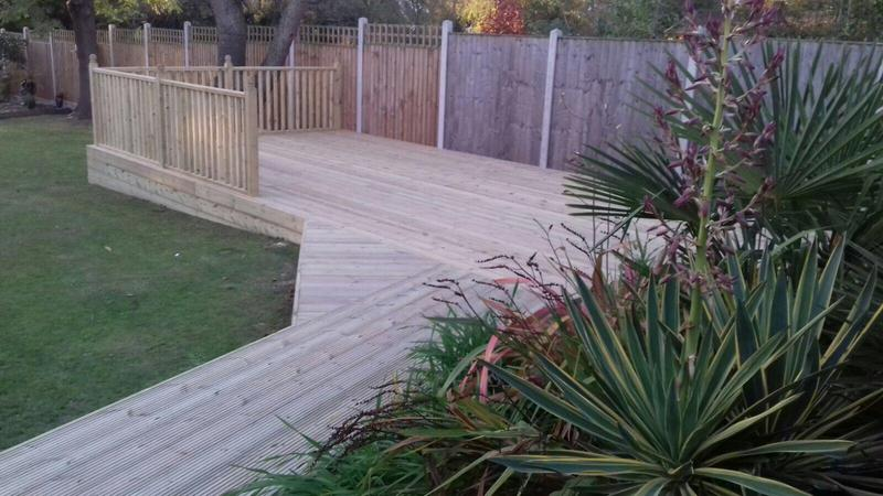 Image 20 - Decking with handrails