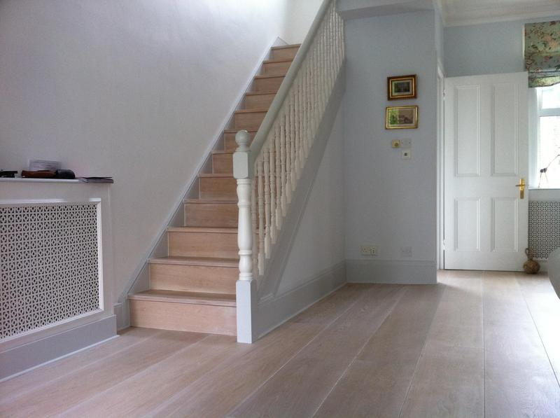 Image 23 - White wash oak flooring and staircese