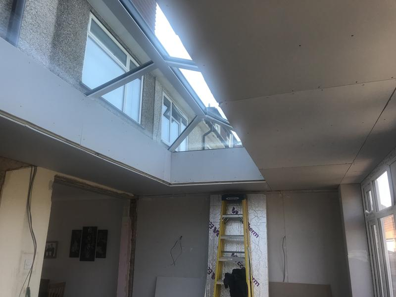 Image 55 - Lantern Install. White interior frame
