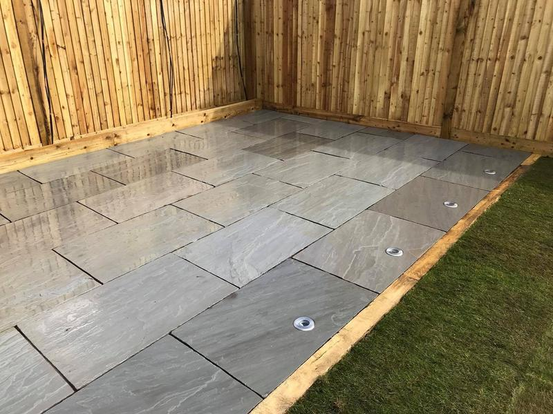 Image 19 - Grey sandstone, fencing and a new lawn