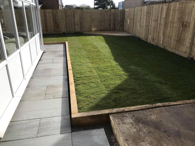 Image 12 - Fencing and a new lawn