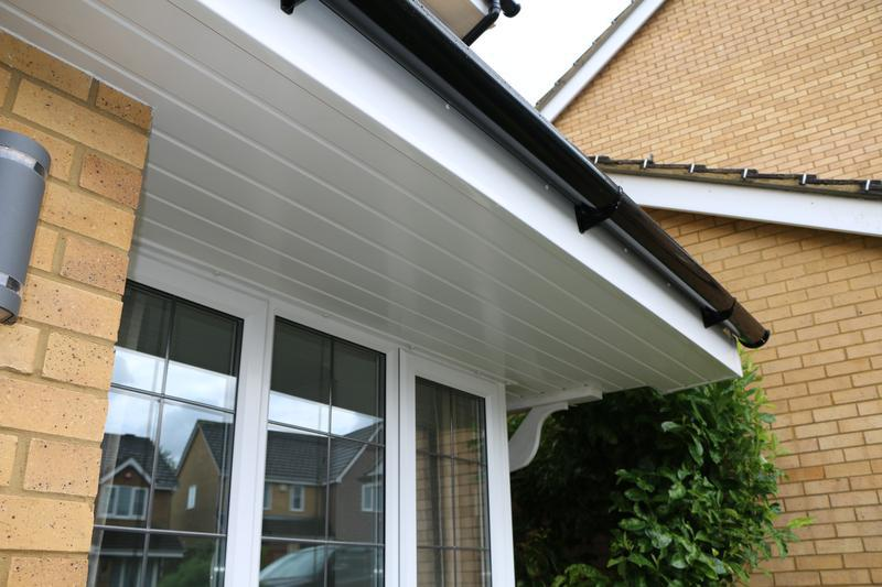 Image 61 - All New White UPVC Fascias Soffits and Black UPVC Guttering and Downpipes Fitted to the entire House