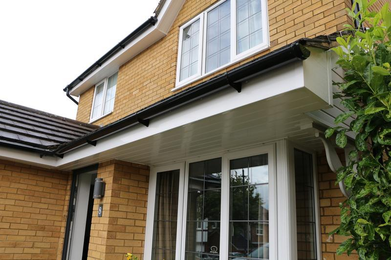 Image 26 - All New White UPVC Fascias Soffits and Black UPVC Guttering and Downpipes Fitted to the entire House