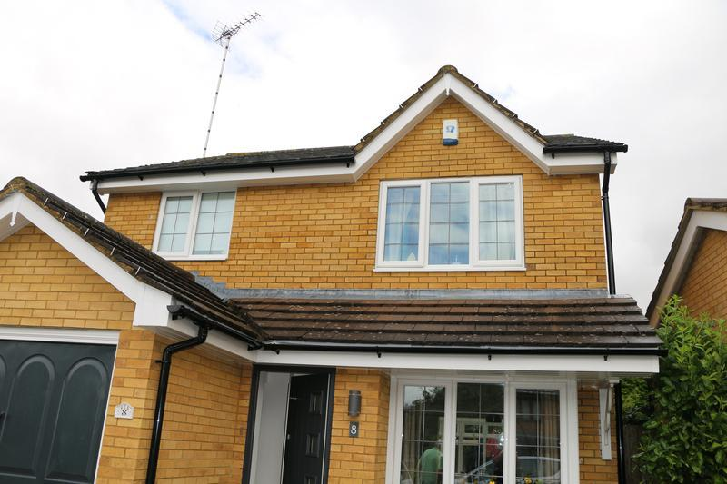 Image 62 - All New White UPVC Fascias Soffits and Black UPVC Guttering and Downpipes Fitted to the entire House