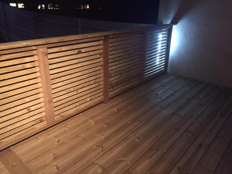 Image 24 - Soft wood decking with batten handrail/screening