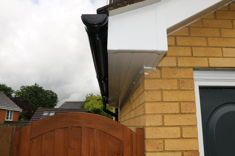 Image 64 - All New White UPVC Fascias Soffits and Black UPVC Guttering and Downpipes Fitted to the entire House