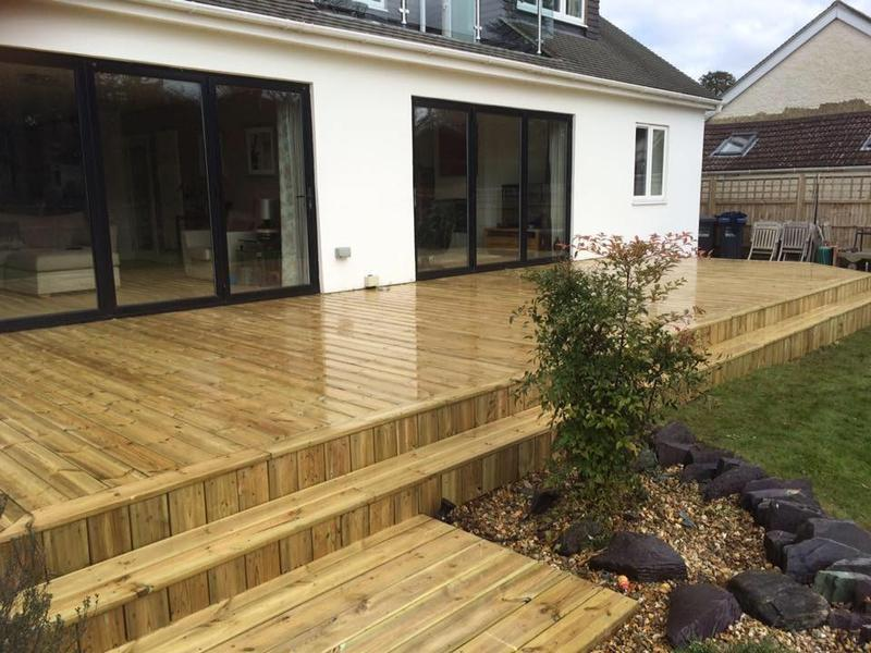Image 4 - Soft wood decking using smooth deck boards