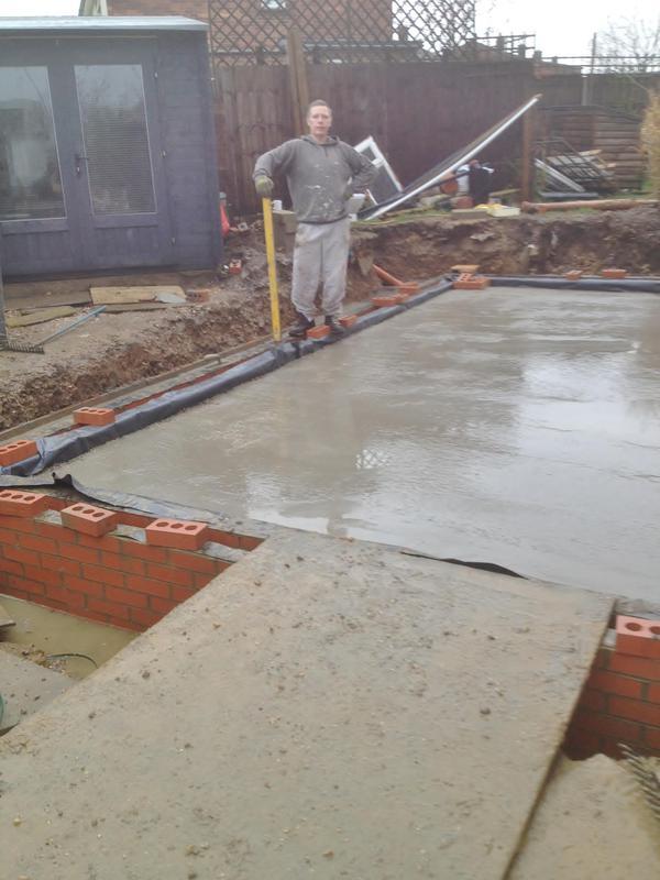 Image 15 - Work in progress concrete slab , Deanery gardens Braintree