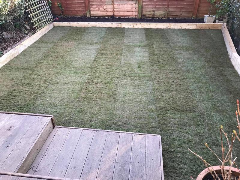 Image 9 - Re turf/planting bed to allow for planting and to refine boarders