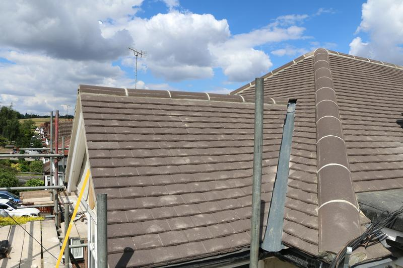 Image 71 - Complete New Concrete Sand Face Brown Plain Tile Roof Fitted on a Property inTheydon Bois