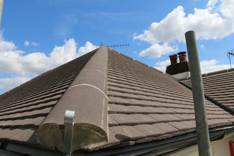Image 69 - Complete New Concrete Sand Face Brown Plain Tile Roof Fitted on a Property inTheydon Bois