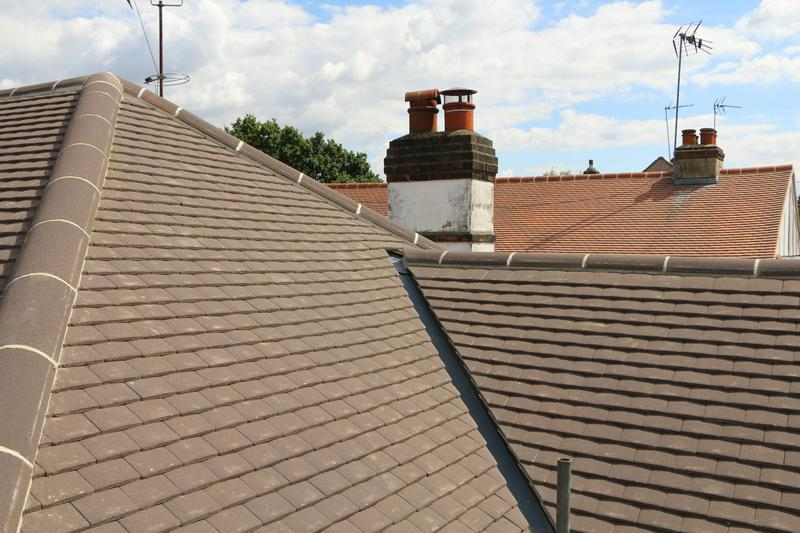 Image 68 - Complete New Concrete Sand Face Brown Plain Tile Roof Fitted on a Property inTheydon Bois