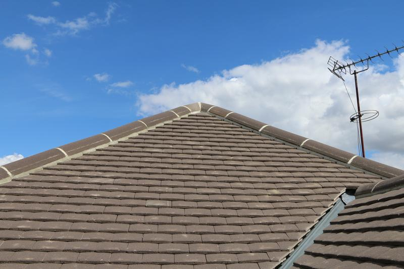 Image 74 - Complete New Concrete Sand Face Brown Plain Tile Roof Fitted on a Property inTheydon Bois