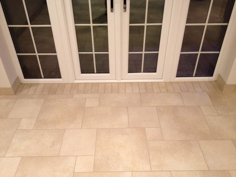 Image 81 - Large Multi size Porcelain Kitchen Floor with Tiled Skirting