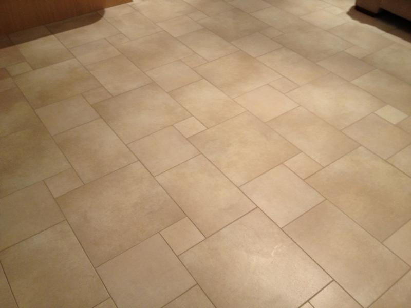 Image 82 - Large Multi size Porcelain Kitchen Floor with Tiled Skirting