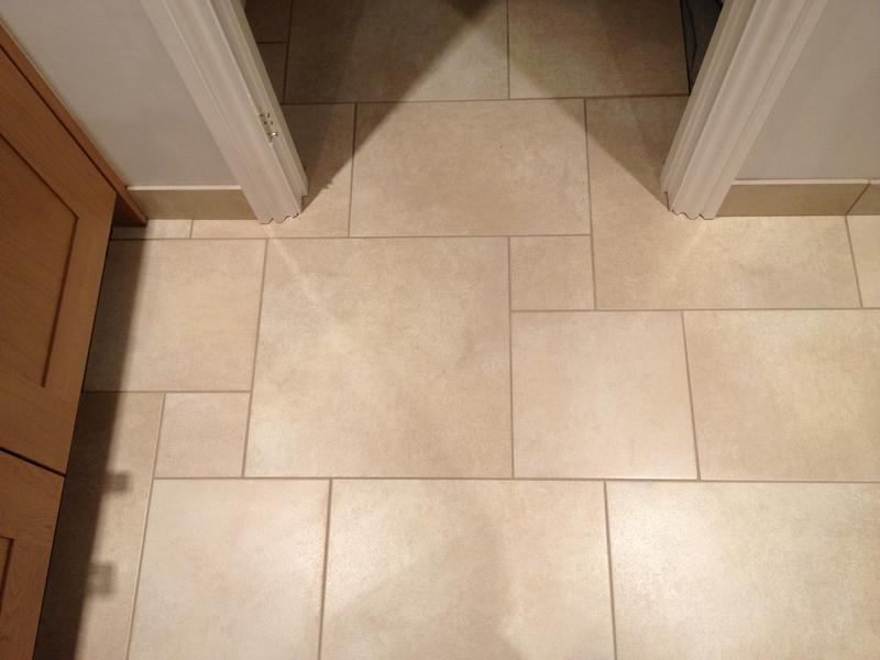 Image 84 - Large Multi size Porcelain Kitchen Floor with Tiled Skirting