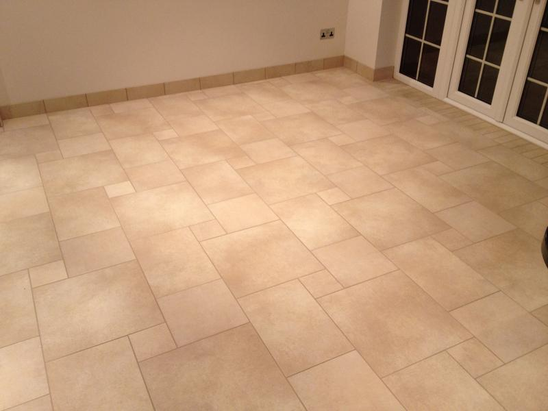 Image 86 - Large Multi size Porcelain Kitchen Floor with Tiled Skirting