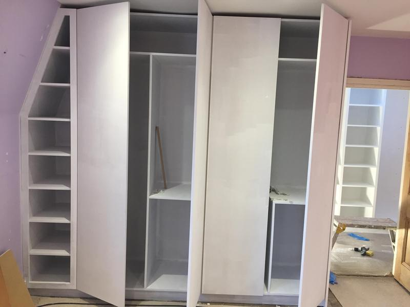 Image 26 - Custom made fitted wardrobe with flat doors