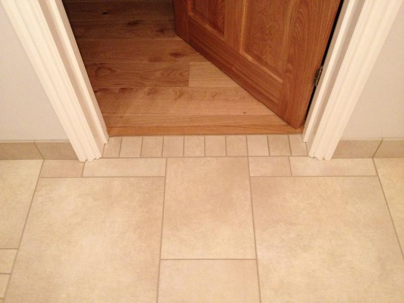 Image 87 - Large Multi size Porcelain Kitchen Floor with Tiled Skirting