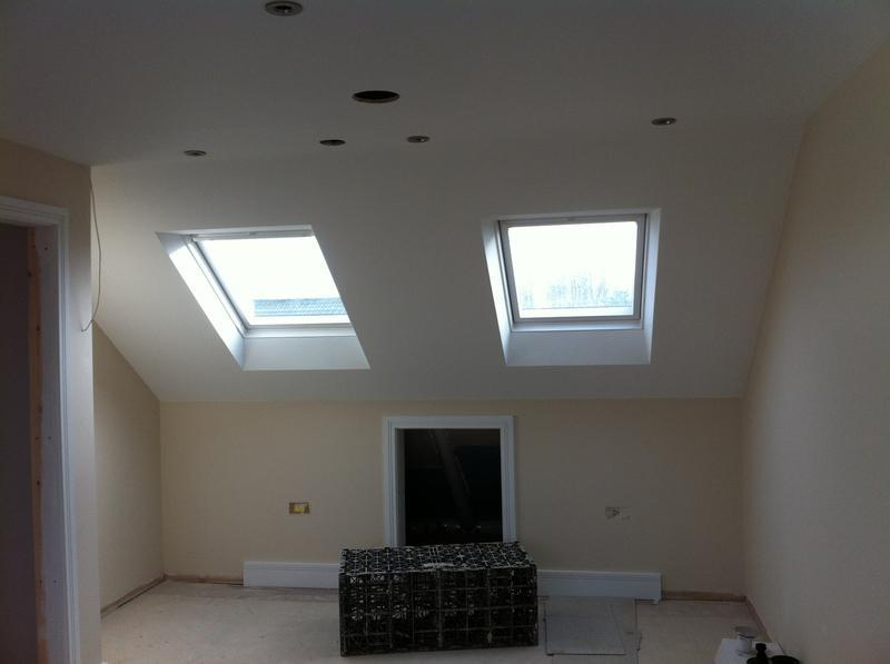 Image 76 - Loft conversion, plastering and painting