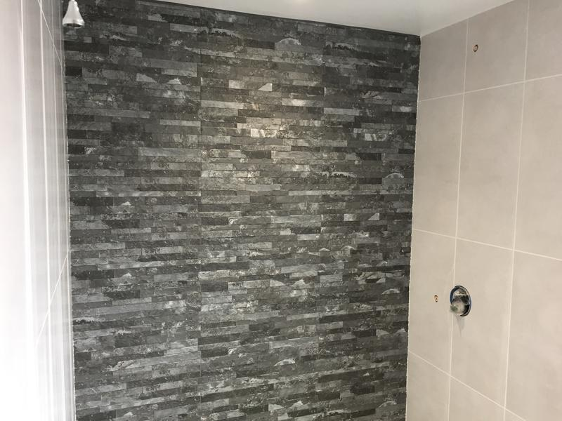 Image 127 - Slate feature wall in shower