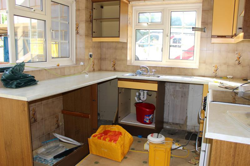 Image 36 - Old kitchen being ripped out