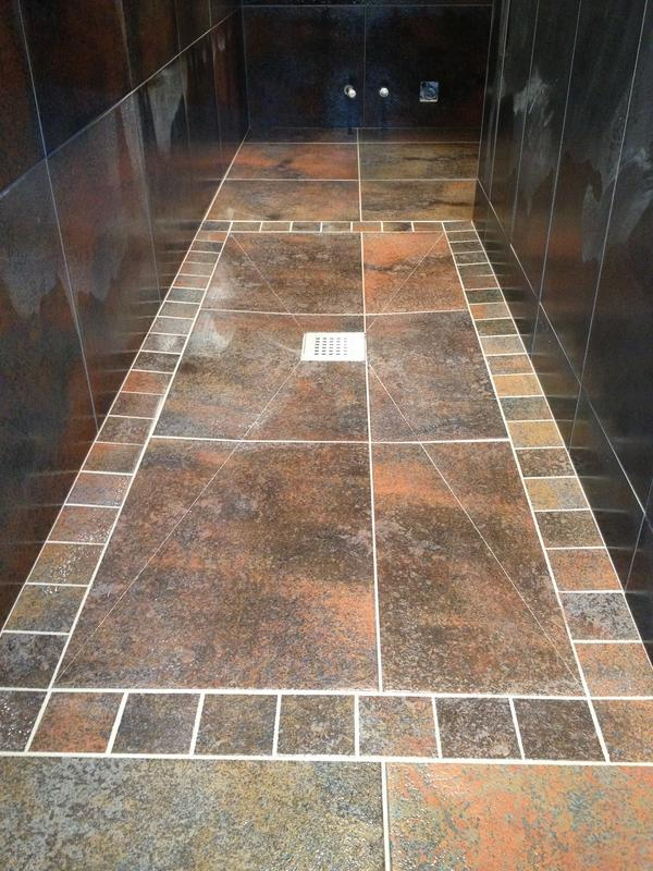 Image 57 - Tile on Wetroom Showertray
