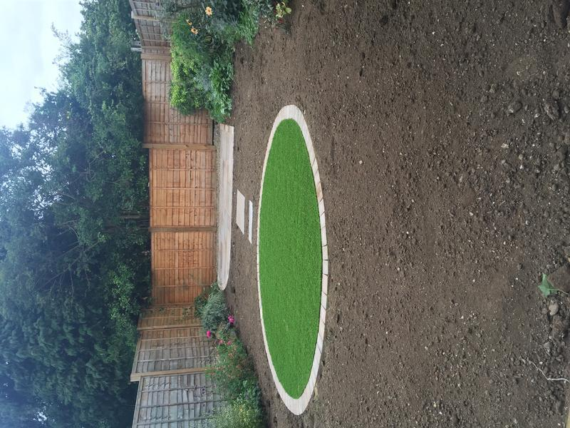 Image 30 - Artificial lawn with top soil ready to plant
