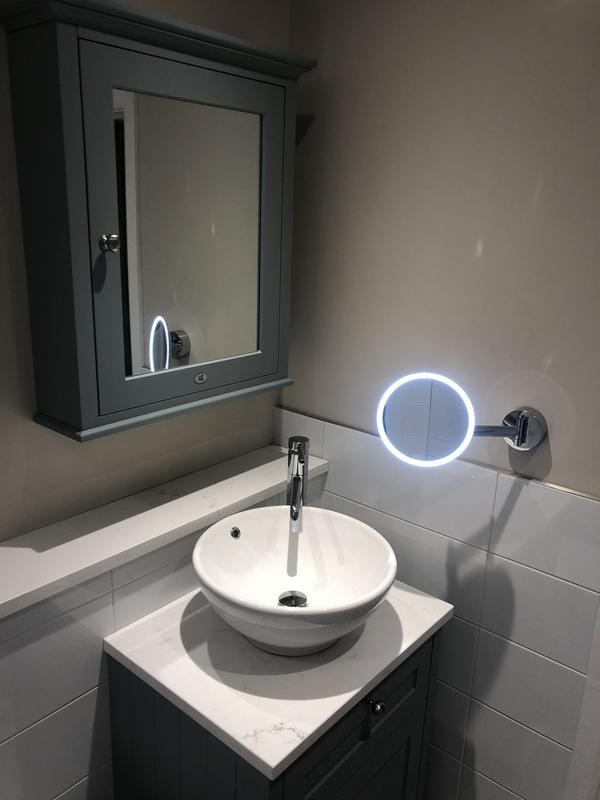 Image 7 - A well designed bathroom in Park Street based around the clients needs with a magnifying LED make-up mirror.