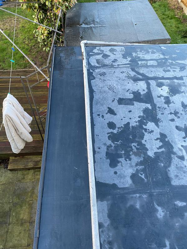 Image 19 - Rear Flat Roof Covering Renewal in Rubber, Completed January, Wyken