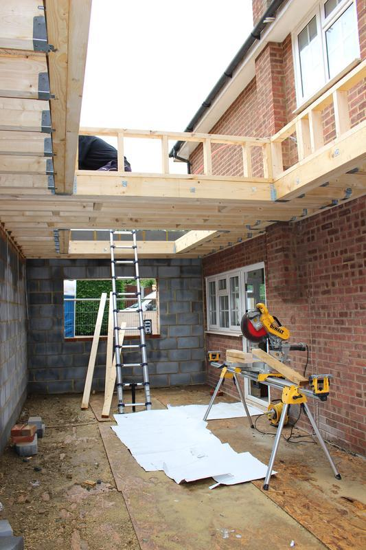Image 29 - Extension roof being built