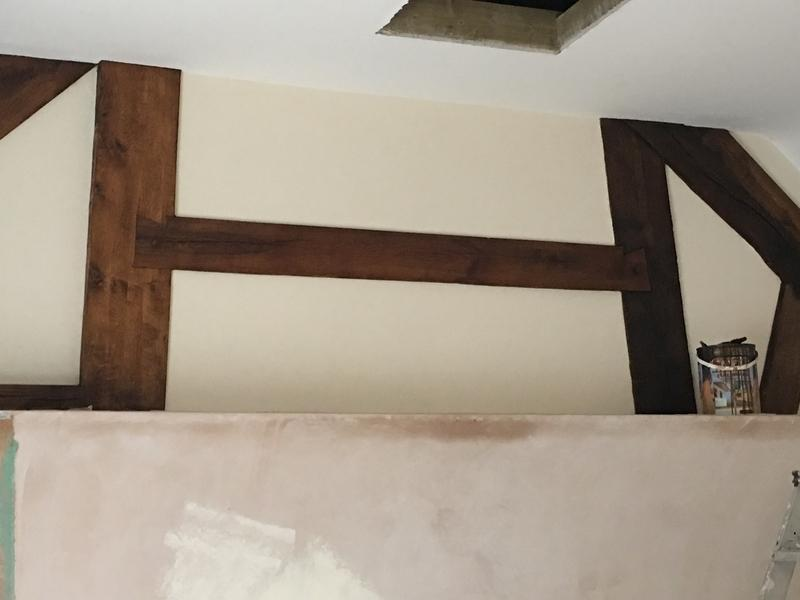 Image 20 - Partition between oak beams