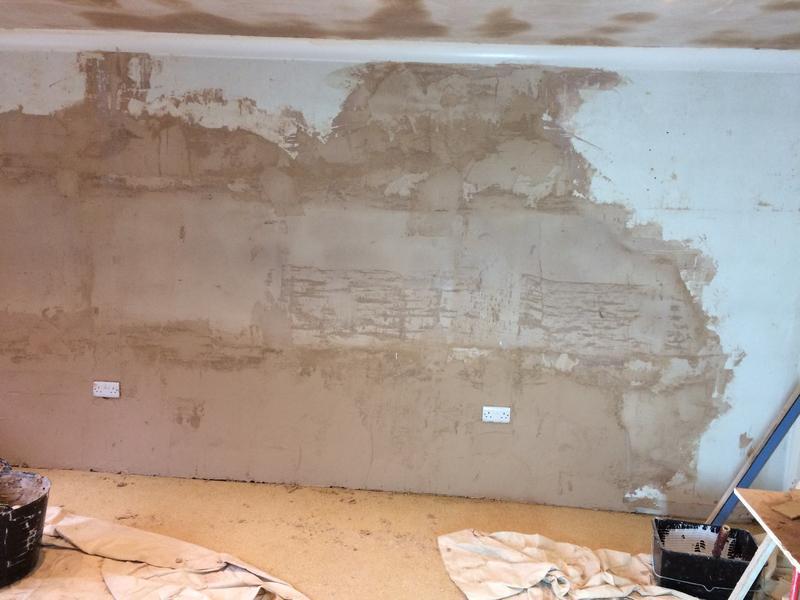 Image 12 - Wall repair beforehand
